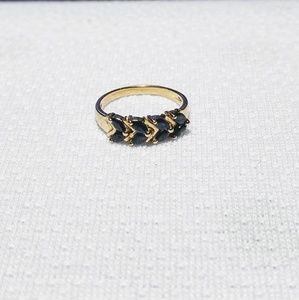 Town & Country 14K Gold Ring With Sapphires